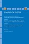 Linguistische Berichte Heft 252