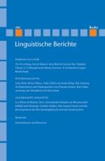 Linguistische Berichte Heft 240
