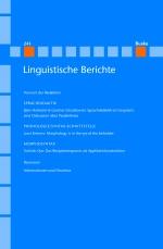 Linguistische Berichte Heft 243