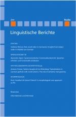 Linguistische Berichte Heft 244