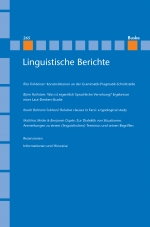 Linguistische Berichte Heft 265