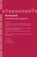 Romanistik in Geschichte und Gegenwart 22,1