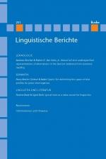 Linguistische Berichte Heft 251