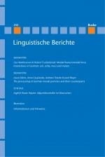 Linguistische Berichte Heft 255