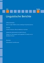 Linguistische Berichte Heft 258