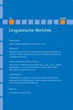 Linguistische Berichte Heft 261