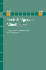 Finnisch-Ugrische Mitteilungen Band 28/29