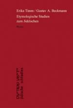 Etymologische Studien zum Jiddischen