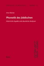 Phonetik des Jiddischen