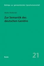 Zur Semantik des deutschen Genitivs