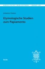 Etymologische Studien zum Papiamento