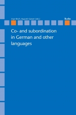 Co- and subordination in German and other languages