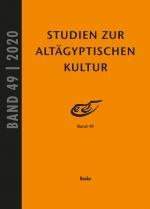 Studien zur Altägyptischen Kultur Bd. 49 (2020)