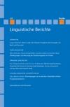 Linguistische Berichte Heft 237