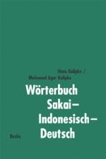 Wörterbuch Sakai-Indonesisch-Deutsch