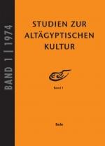 Studien zur Altägyptischen Kultur Bd. 1 (1974)
